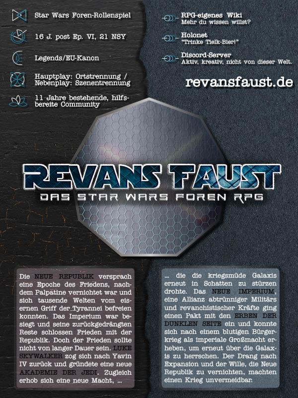 Revans Faust Beschreibungsbanner